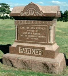In 1864, Cynthia Ann Parker's daughter, Prairie Flower, caught influenza and died of pneumonia causing extreme grief to Cynthia who also had lost contact with her sons. When a loved relative died in the Civil War, Cynthia never fully recovered. She died in 1870. Buried in Foster Cemetery, Texas. Her son, Quanah Parker, moved her in 1910 to Post Oak Mission Cemetery, Oklahoma. He was buried there in Feb. 1911. Cynthia and Quanah were moved in 1957 to the Fort Sill Post Cemetery, Oklahoma.