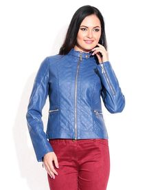 Lifenyou Blue Leather Jacket, http://www.snapdeal.com/product/lifenyou-blue-leather-jacket/1624474323