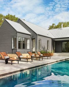 This open and airy modern farmhouse style home was designed by Stuart Sampley Architect, located in the Bull Creek area of Austin, Texas. Salford City, Chico California, Silky Terrier, American Pit, Golden Retrievers, High Level, Beautiful Boys, Exterior Color Schemes, Colour Schemes