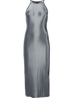 pleated metallic long dress