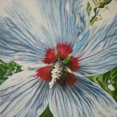 """""""Italian Flower"""" 35""""X35"""" Acrylic on canvas over wood."""