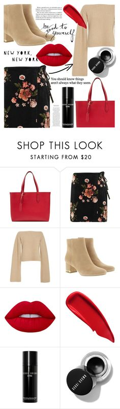 """253"" by erohina-d ❤ liked on Polyvore featuring Burberry, Topshop, Khaite, MICHAEL Michael Kors, Lime Crime, Sisley and Bobbi Brown Cosmetics"