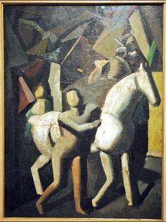 Mario Sironi(1885ー1961)「The White Horse」(1919)