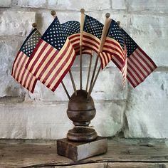 Dressing Tips For The - Something You Must Know - Popular Vintage Happy 4 Of July, Fourth Of July, Flag Holder, American Decor, American Flag, Patriotic Crafts, July Crafts, Summer Quilts, Flag Stand