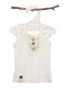 Audrey Buttons Girls Top - Baby Girl Tops - Girls - Little Chickie