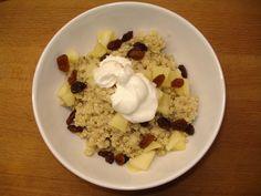Quinoa ontbijt met appel en rozijn