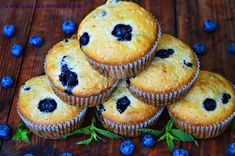 ce Blue Berry Muffins, Blueberry, Goodies, Breakfast, Desserts, Recipes, Room Decor, Food, Baby