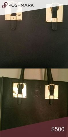 Gucci handbag Large handbag with gold trim and strap Bags Shoulder Bags