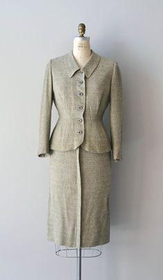 1940s suit / vintage 40s suit / Marienleben tweed by DearGolden, $214.00
