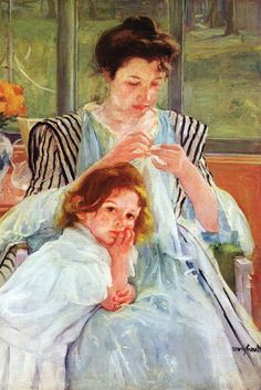 Young Mother Sewing, by Mary Cassatt