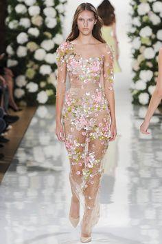 Valentin Yudashkin womenswear, spring/summer 2015, Paris Fashion Week #wedding #dress #floral