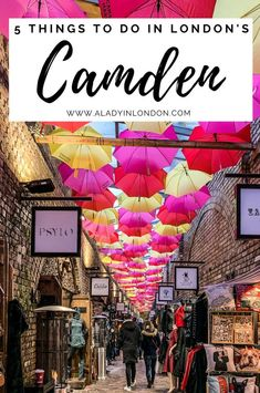 This guide to things to do in Camden, London features everything from Camden High Street to Camden Town, Camden Market, and Regent's Canal. Best Places In London, Things To Do In London, Camden London, Camden Town, Regents Canal, London Travel, Trip Planning, Night Life, The Good Place