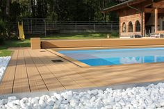 POOLAR 🌊 as weatherproof piece of jewellery in St. Johann/Tirol, Austria 🏔 The POOLAR pool deck scores with its weather resistance, especially in higher layers with greater temperature fluctuations 🤩 % Outdoor Pool, Outdoor Decor, Multifunctional, Cover, Terrace, Tirol Austria, Deck, Layers, Weather