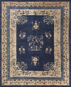 Peking Carpet Stock Id: 23681 Circa: 1900 Width: 8' 0'' ( 243 cm ) Length: 9' 10'' ( 300 cm ) http://www.antiquerugstudio.com/Chinese%20-%20Peking/23681 #peking #pekingcarpet #antique #handmade #artwork #finecarpet #floorplan #flooring #interior #interiordesign