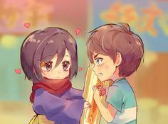 Attack On Titan Comic, Eren X Mikasa, Eremika, Manga, Chibi, Anime, Fan Art, Instagram, Twitter