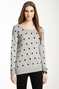 Vertical Design Polka Dot Sweater