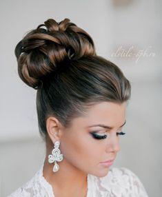 coiffure femme tendance printemps 2015 chignon haut