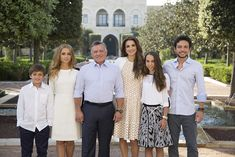 Queen Rania of Jordan with (left to right) Prince Hashem, 11, Princess Iman, 19…