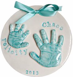 Lil lollipops designs handprint baby ornament gifts ideas this sibling handprint keepsake wall hanging will memorialize the size of your childrens hands so you can cherish their childhood forever solutioingenieria Images
