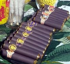 Party favors for a Havana Nights party using Rollo chocolate & vintage Cuban cigar labels Harlem Nights Theme, Havana Nights Party Theme, Havana Party, Mafia Party, Cuban Party Theme, Havanna Nights Party, Cigar Party, Don Corleone, 60th Birthday Party