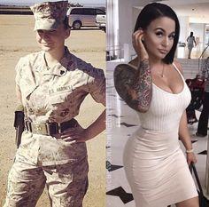 Uniform Makes Them Even Sexier! Female Army Soldier, Female Marines, Female Warriors, Gorgeous Women, Amazing Women, Military Girl, Military Women, Girls Uniforms, Hot Girls
