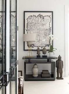 A gorgeous black and white Living Room vignette by Les Ensembliers. 10 Interiors from 2016 Kips Bay Showhouse Designers, via @sarahsarna.