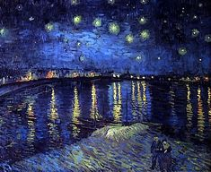 Vincent Van Gogh, Starry night over the Rhone, 1889