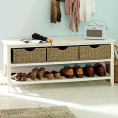 Shoe Storage Bench for Hallway Decor