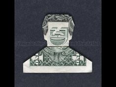 SMILEY DUDE Cash Origami Greenback Invoice Money Man by DollarArtist. ** Discover even more at the picture Origami Man, Origami Paper Folding, Origami Gifts, Money Origami, Origami Design, Origami Stars, Diy Origami, Paper Oragami, Origami Tooth