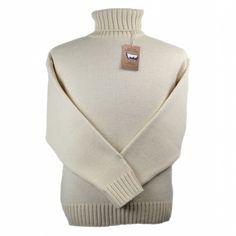 Merino Wool Submariner Sweater - Ecru