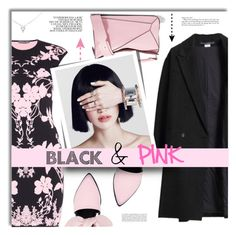 """""""#267) BLACK&PINK"""" by fashion-unit ❤ liked on Polyvore featuring Les Prairies de Paris, Alexander McQueen, Mother of Pearl, BlackAndPink, darkflorals and WinterLayers"""