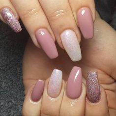 Brilliant Gel Nail Designs For Women Hot Nails, Nude Nails, Glitter Nails, Perfect Nails, Gorgeous Nails, Pretty Nails, Latest Nail Designs, Gel Nail Designs, Acryl Nails
