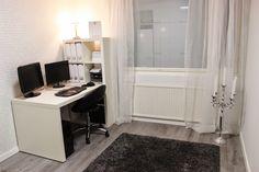 Kuvahaun tulos haulle työhuone sisustus Decor, Furniture, Corner Desk, Home Decor, Desk