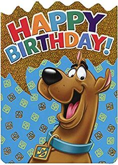 Paper House Scooby Doo Die Cut Foil Birthday Card for Kids Happy Birthday Icons, Happy Birthday Grandson, Birthday Wishes Gif, Funny Happy Birthday Images, Happy Birthday Greeting Card, Kids Birthday Cards, Funny Birthday Cards, Art Birthday, Scooby Doo Images