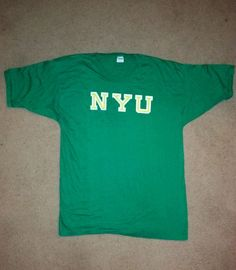 Vintage 70s NYU New York University champion Blue Bar t-shirt deadstock XL L in Clothing, Shoes & Accessories, Vintage, Unisex & T-Shirts | eBay
