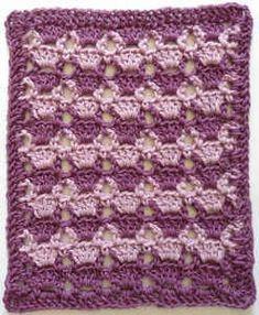 #296 Lilac Lace Crochet Dishcloth – Maggie Weldon Maggies Crochet