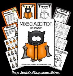 #FreebieFriday ~ #FREE Mixed Addition Halloween Quick Easy Center and Printable #TPT