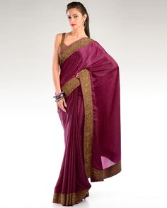 Grape Wine Jacquard Sari