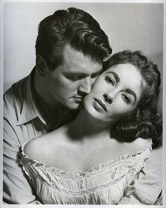 """Rock Hudson and Elizabeth Taylor in """"Giant"""" (1956)"""