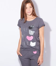 Top patchwork chat glitter