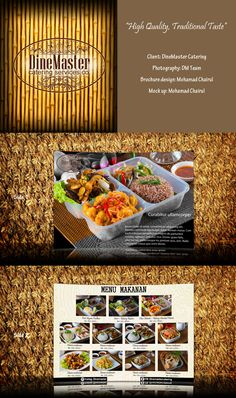 DineMaster Brochure, designed by Chairul