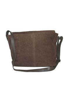 Brown Suede Leather Handbag with shoulder Strip Brown Suede, Suede Leather, Leather Handbags, Shoulder, Leather Totes, Leather Purses