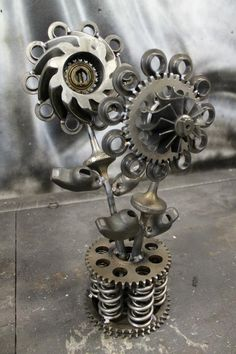 welded art | Miller - Welding Projects - Idea Gallery - turbochargerd flowers