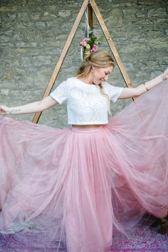Bridal Look und Brautkleid rosa - Boho Eleganz in Altrosa und Gold | Hochzeitsblog The Little Wedding Corner