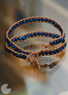 Wrap bracelet tutorial - another way to make them. use fishing line or try using multiple strands of thread.