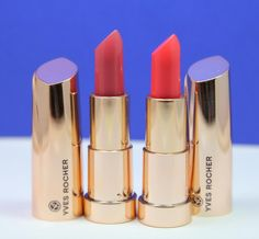 Yves Rocher Grand Rouge Lipsticks in #71 Powdery Pink and #41 Flashy Coral
