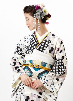 "Rakuten [2013] original fine pattern fan face drop: Furifu ♥♡♥♡♥Thanks, Pinterest Pinners, for stopping by, viewing, re-pinning,  following my boards.  Have a beautiful day! ^..^ and ""Feel free to share on Pinterest ^..^ #streetfashion   #fashionupdates #kimono"