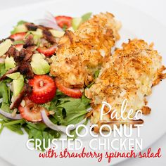 Paleo Coconut Crusted Chicken « Clean Eating Recipes | www.emilybellfitness.com #cleaneating #whole30 #paleo
