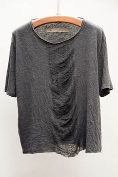 raquel allegra | black shred front boxy tee