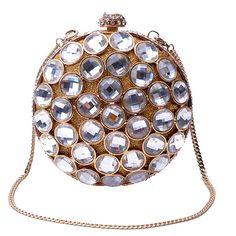 Mujer bolso de noche bolso de marca de moda de Europa y los Estados Unidos Geométrica pesado hueco joya de diamantes de mano del partido de la vendimia Del Embrague(China (Mainland))